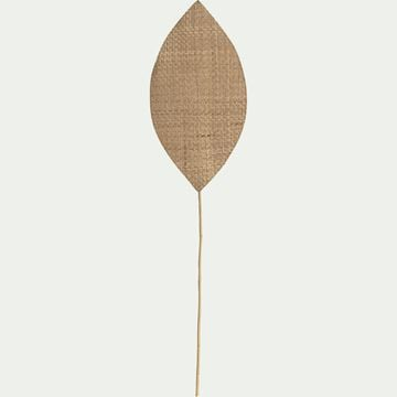 Feuille tressée en jonc de mer et bambou - naturel 35x143cm-HUESCA