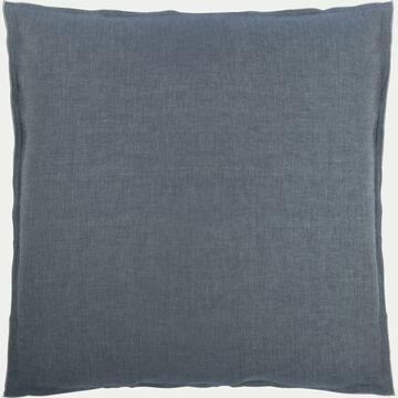 Lot de 2 taies d'oreiller en coton chambray - gris anthracite 63x63cm-FRIOUL