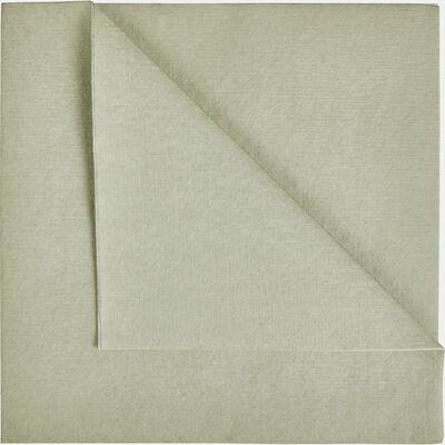 Lot de 20 serviettes en papier vert olivier 40x40cm-SALERNE