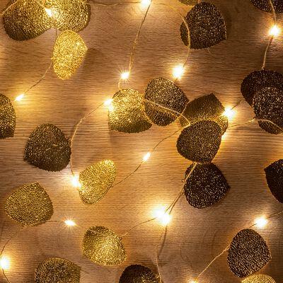 Guirlande LED feuilles dorées L390cm-HANDA