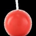 Bougie boule rouge azérole-HALBA