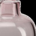 Vase bouteille en verre rose H10 cm-TAPHOS