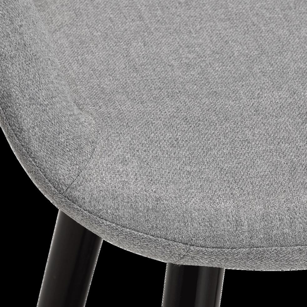 Chaise de bar en tissu avec accoudoirs gris borie - H65.5cm-JOYAU