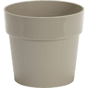 Pot beige en plastique H13xD14cm-B FOR