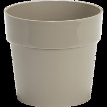 Pot beige en plastique H13xD14cm-B FOR