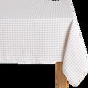 Nappe en coton à motifs beige roucas 170x250cm-LEA
