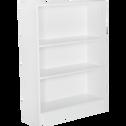 Petite bibliothèque 3 tablettes coloris blanc L79cm-Biala