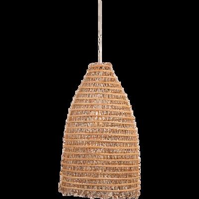 Suspension fait main en fibre de palmier H80xD45cm-ORIA
