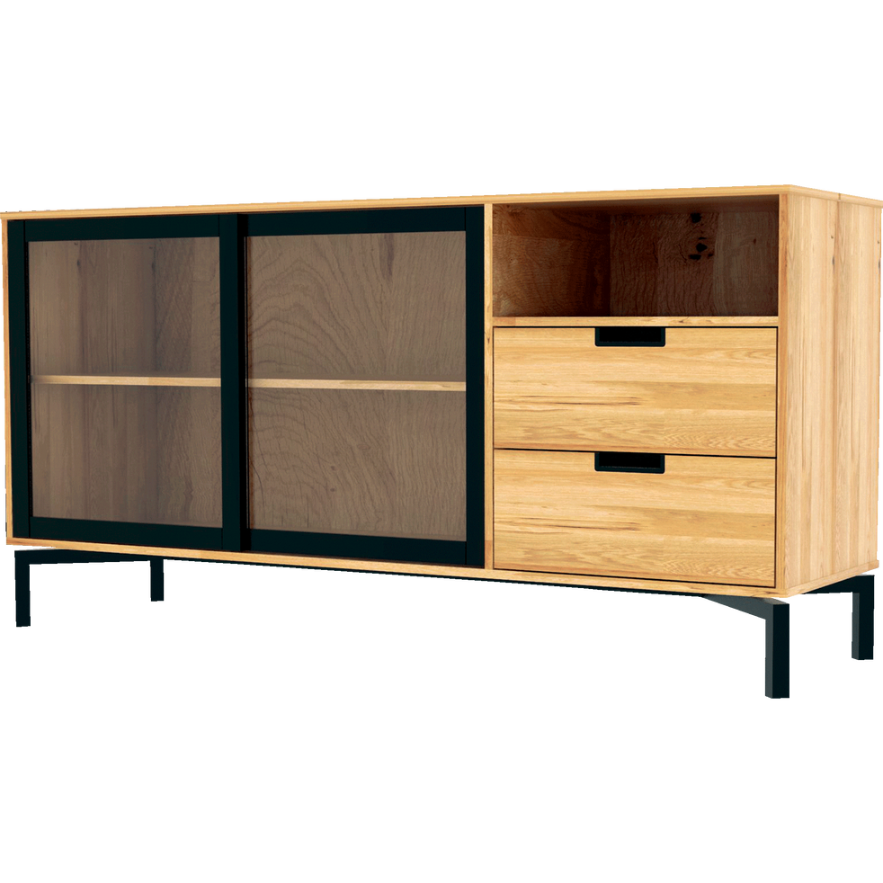 buffet bas plaqu ch ne l150 7cm fantine buffets alinea. Black Bedroom Furniture Sets. Home Design Ideas