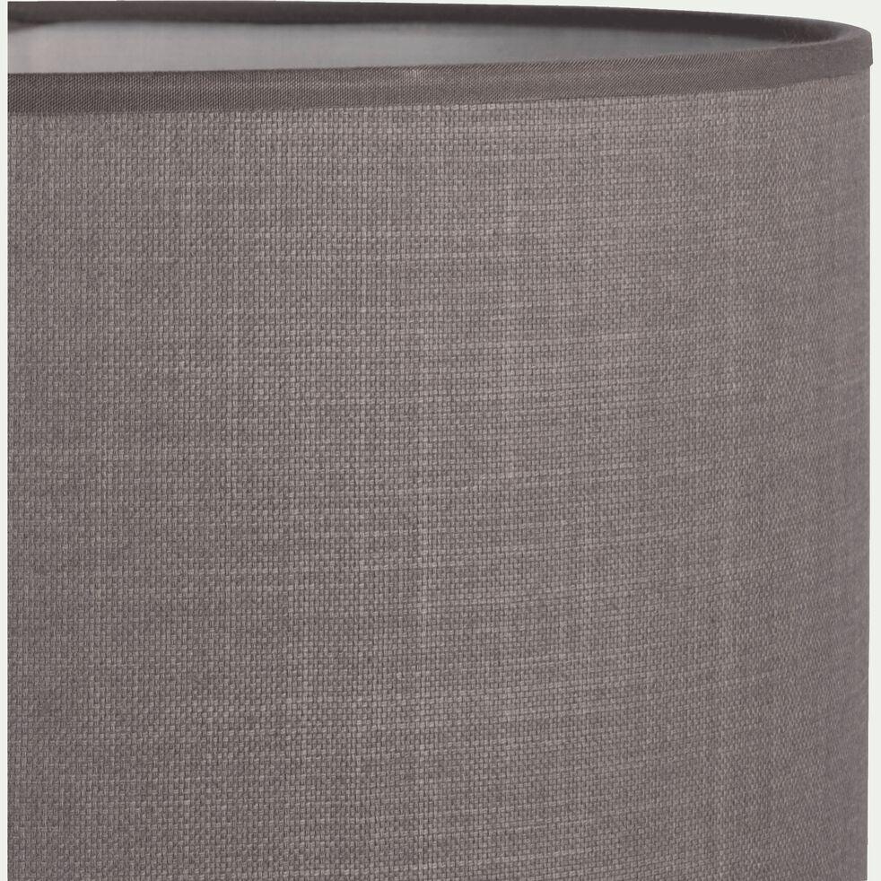 Suspension cylindrique en coton - D60cm gris restanque-MISTRAL