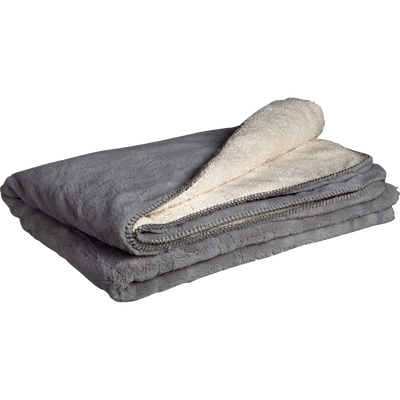 Plaid doux imitation fourrure gris restanque 180x220cm-MARIUS