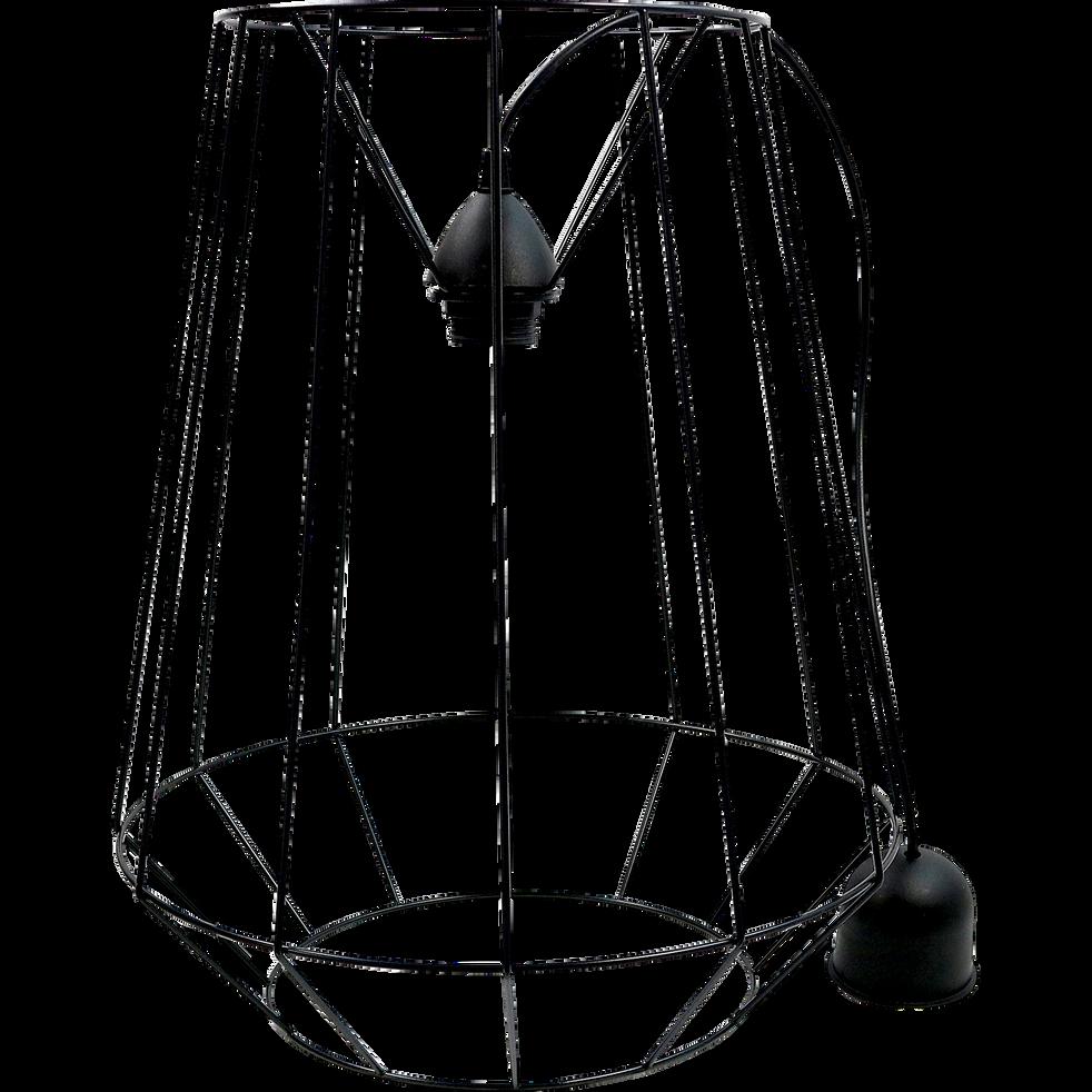 Suspension géométrique filaire en acier noir D38cm-MOD