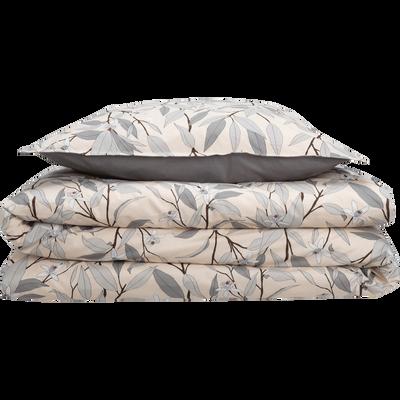Lot de 2 taies d'oreiller en percale de coton imprimé Fleurs d'oranger - carré-FANNY