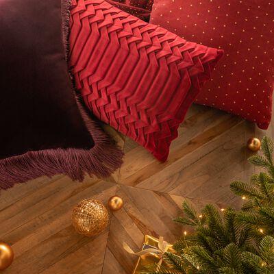 Coussin plissé en velours - rouge 30x50cm-PATY