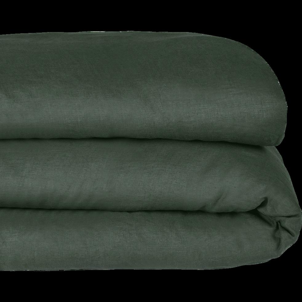 Housse de couette en lin Vert cèdre-VENCE
