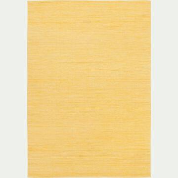 Tapis en laine fait main - jaune 160x230cm-SANJIA