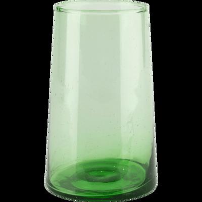 Verre vert en verre recyclé soufflé à la bouche 35cl-BELDI