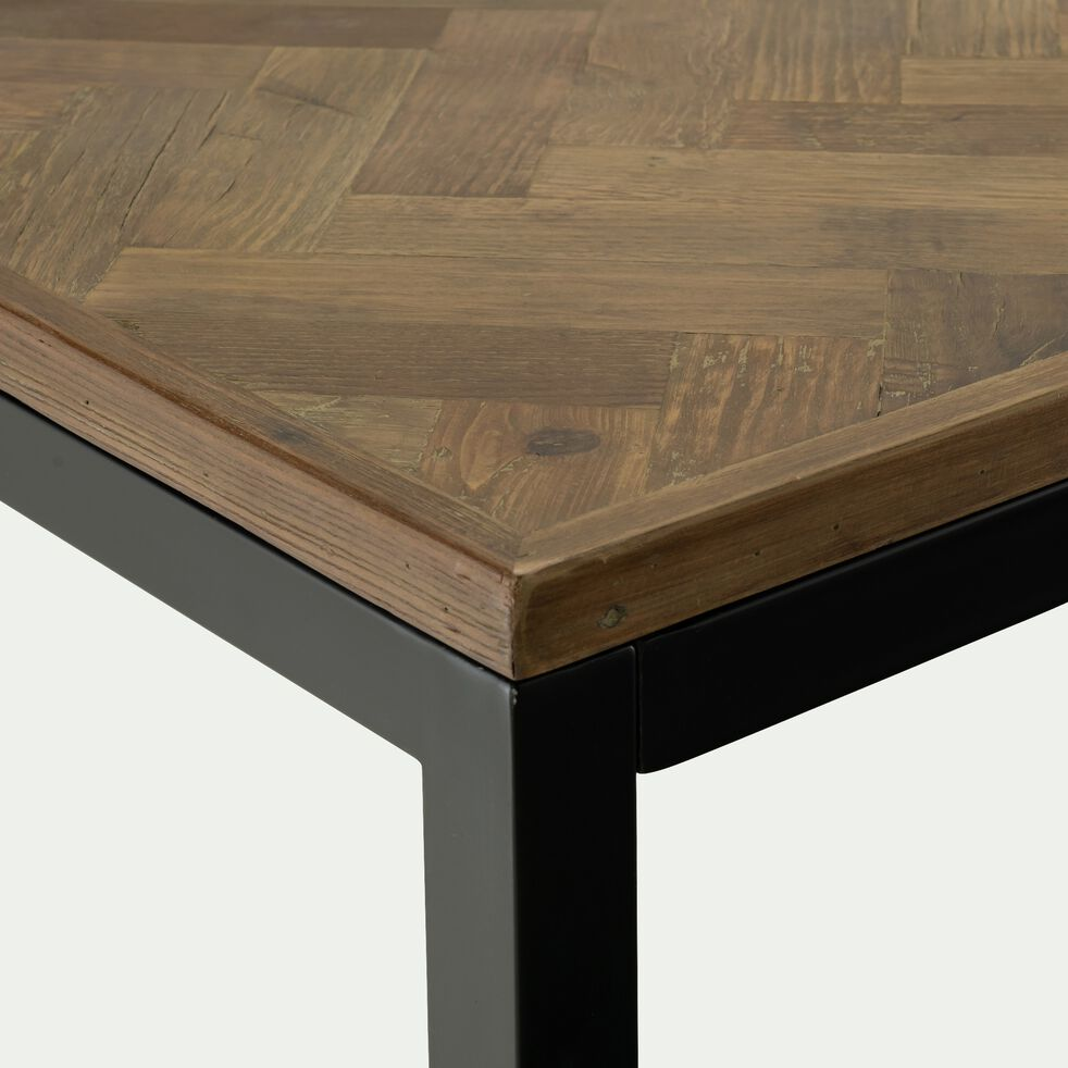 Table de repas en bois recyclé et métal L160cm - 6 places-BARGA