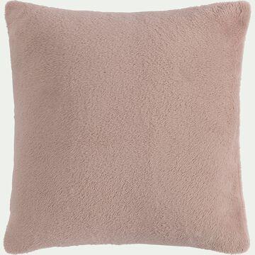 Housse de coussin effet polaire en polyester - rose rosa 40x40cm-ROBIN