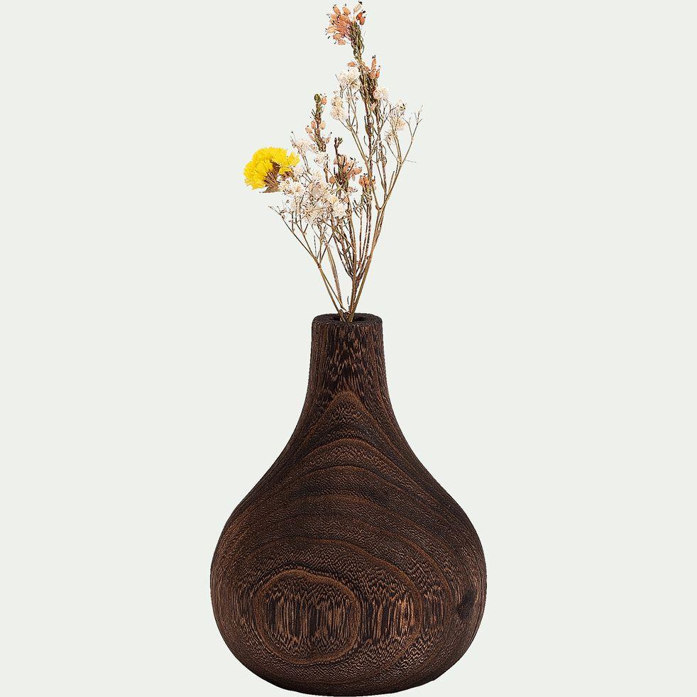 Vase en bois de paulownia H17cm-TANGUY