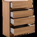 Commode 4 tiroirs finition bois vieilli-LUZ