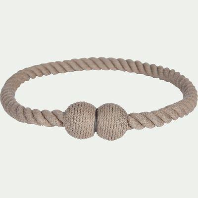 Embrasse magnétique corde en coton gris moyen-CORDE