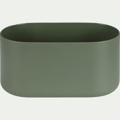 Cache-pot vert kaki H13xL27cm-B FOR