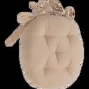 Galette de chaise ronde rose argile D40cm-CALANQUES