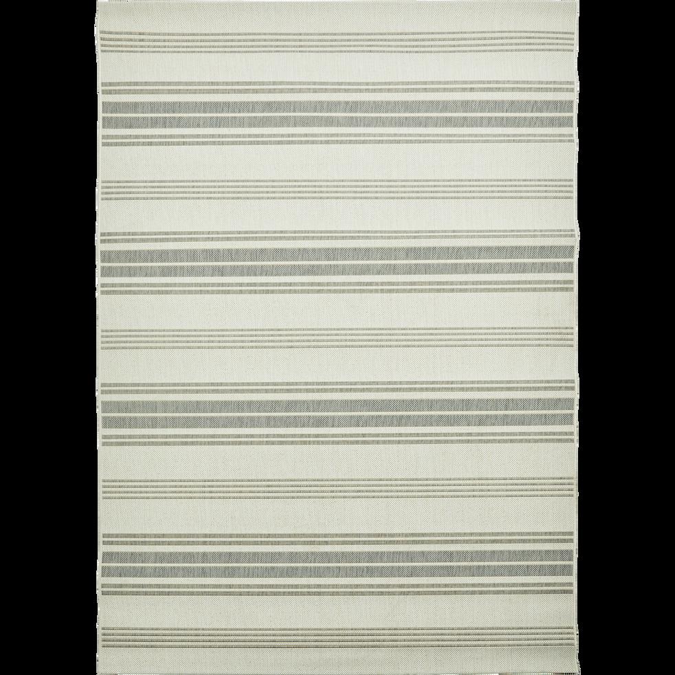 Tapis d'extérieur à rayures gris 120x170 cm-ELOISE