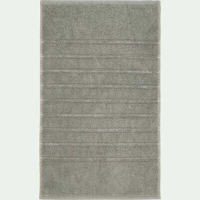 Tapis de bain en coton - vert olivier 50x80 cm-Romy