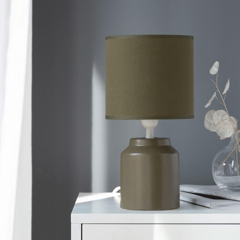 Lampe à poser en céramique vert cèdre H29cm-RODRIG