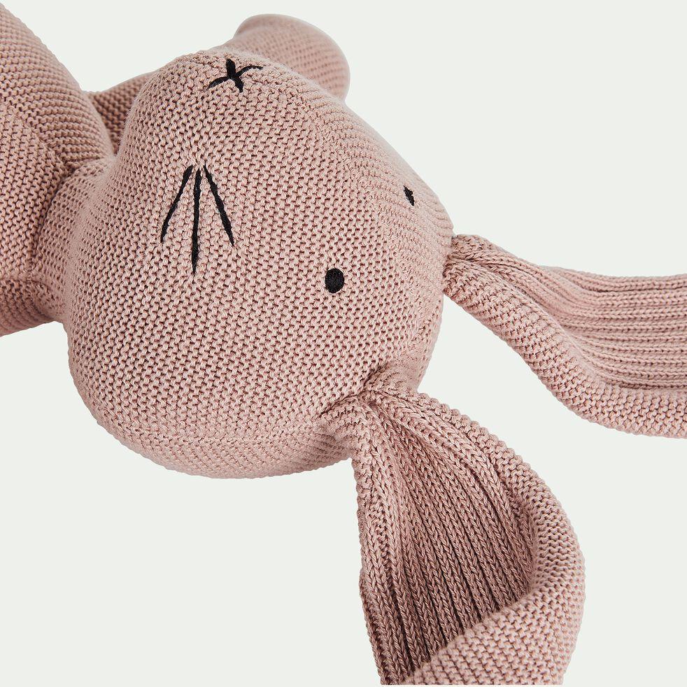 Peluche lapin gm en coton bio - rose-Rafy