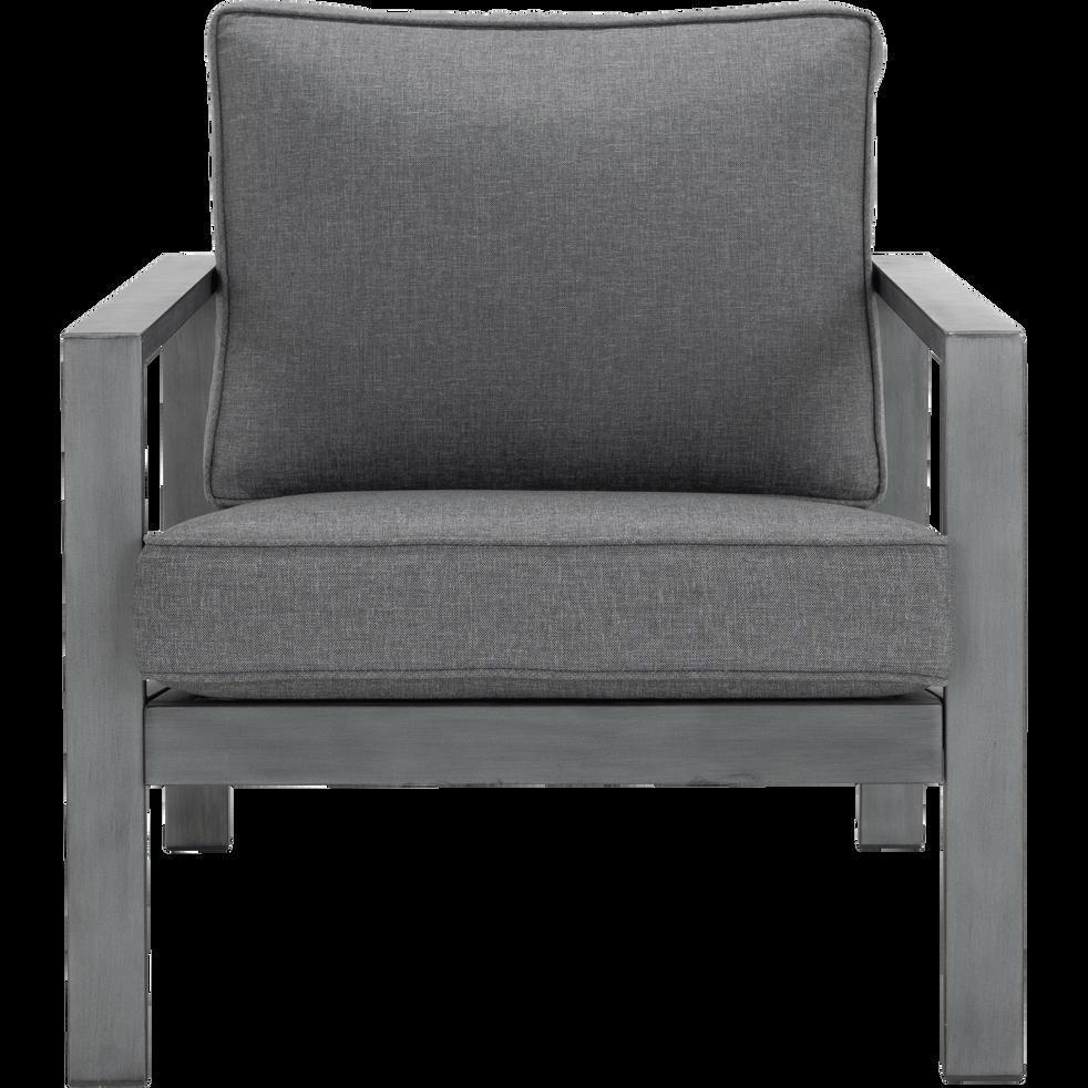 CAGLIARI - Fauteuil de jardin en aluminium gris