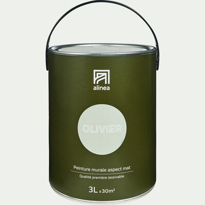 Peinture acrylique mate multi-supports - vert olivier 3L-PEINTURE