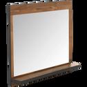 Miroir rectangulaire de salle de bains en acacia et métal 90cm-KOTA