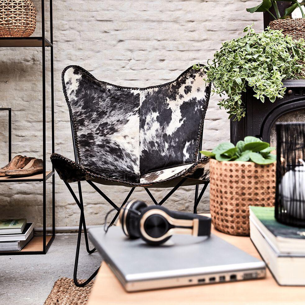 Housse de fauteuil en cuir peau de vache - structure non incluse-BUTTERFLY