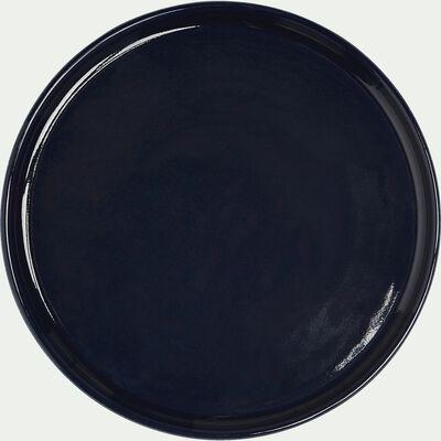 Assiette à dessert en faïence bleu myrte D21cm-VADIM