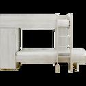 Lits superposés avec rangements Blanc - 90x200 cm-BROOKLYN