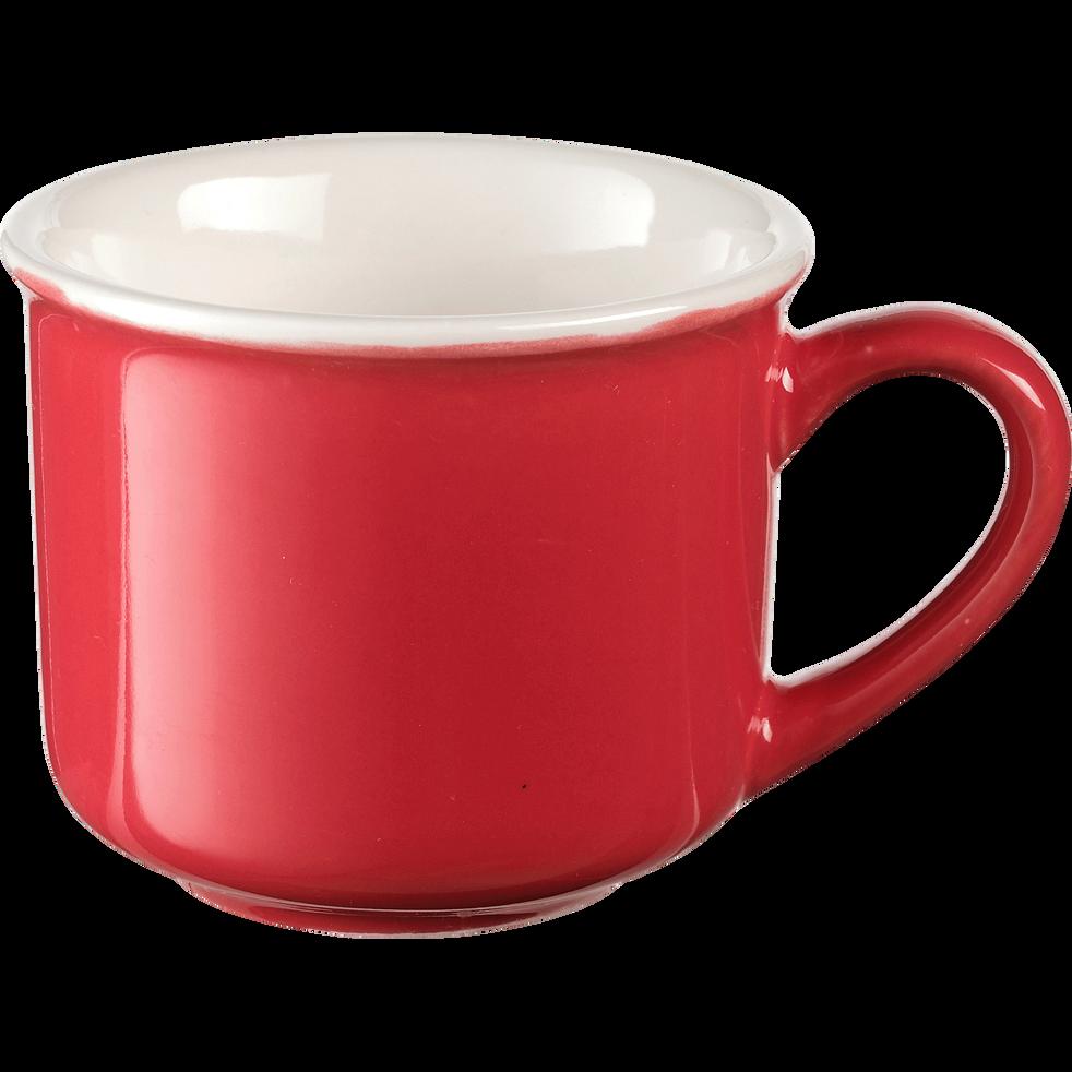 Tasse en porcelaine rouge arbouse 9cl-CAFI