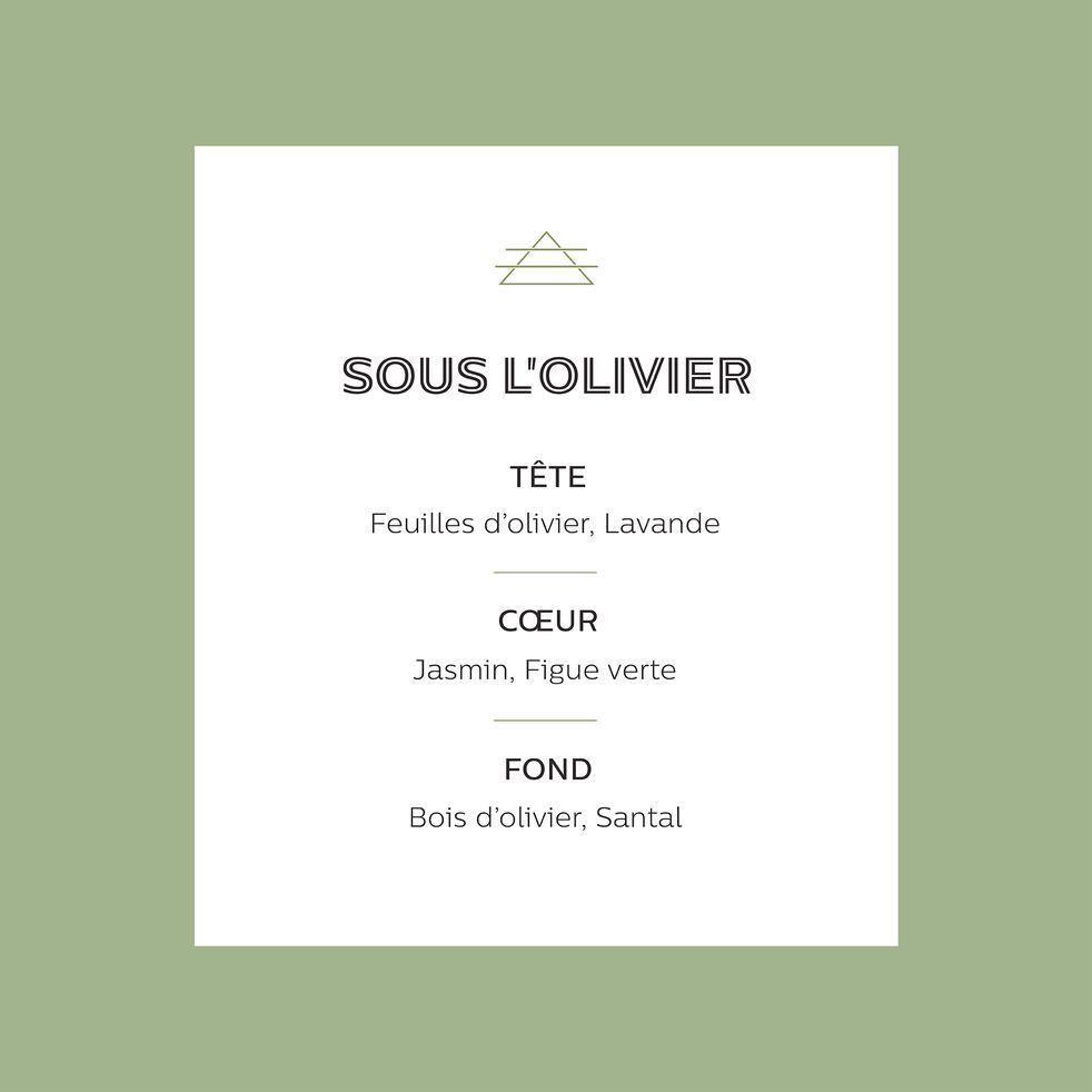Recharge bougie parfumée senteur Sous l'Olivier 170g-SOUS L OLIVIER