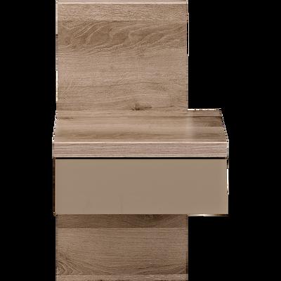 Table de chevet finition chêne cendré 1 tiroir-BROOKLYN