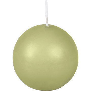 Bougie ronde vert garrigue D6cm-HALBA