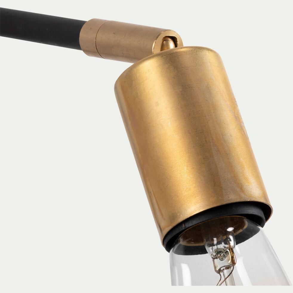 Applique orientable en métal - 27cm noir-HERON