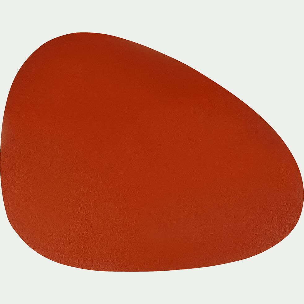 Set de table en caoutchouc rouge 30,5x39cm-ALMA