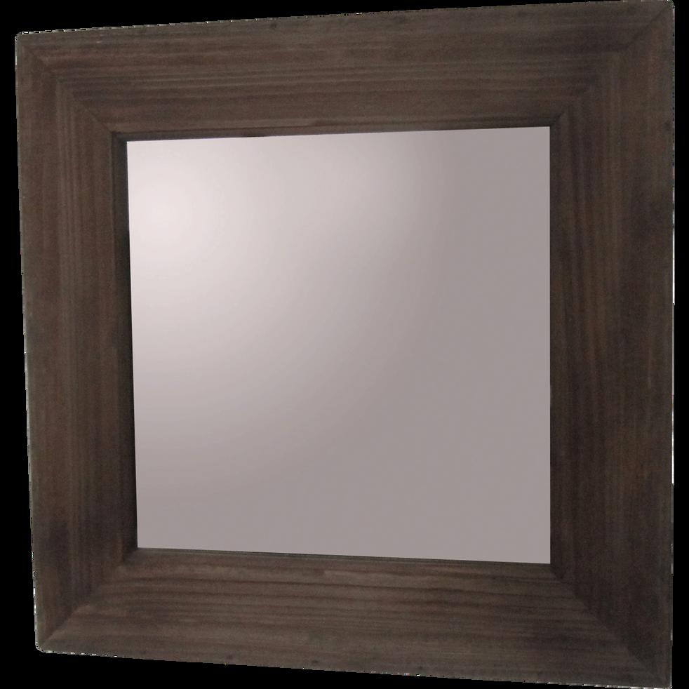 miroir carr en bois 40x40cm enya miroirs d co alinea. Black Bedroom Furniture Sets. Home Design Ideas