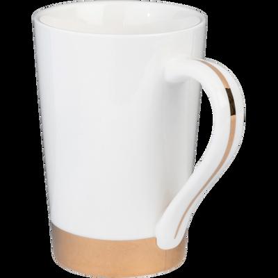 Mug en porcelaine blanc capelan 35cl-GLYCINE