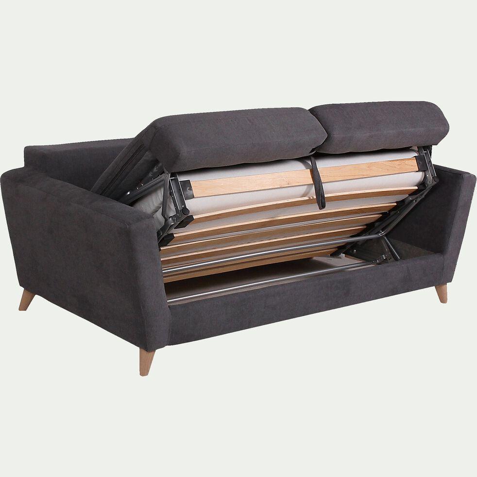 Canapé 3 places convertible BULTEX en tissu - gris-ICONE