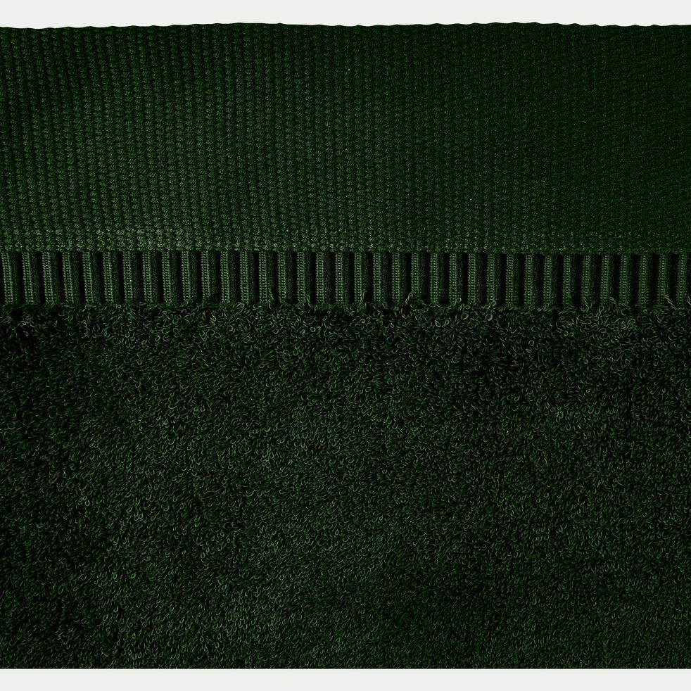 Serviette en coton bouclette en coton égyptien - vert cèdre 50x100cm-ARROS