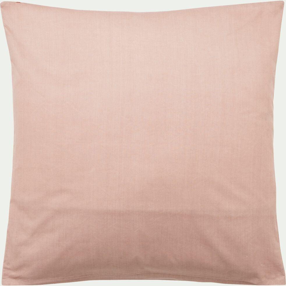 Housse de couette enfant motifs étoiles sumac 140x200cm et une taie d'oreiller 63x63cm - rose salina-Goia