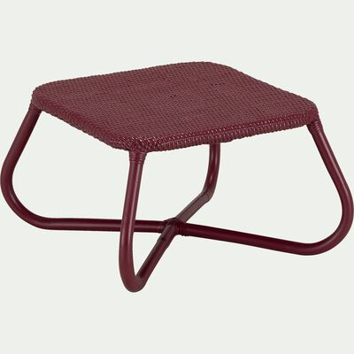 Table basse de jardin en rotin naturel rouge sumac-GERA